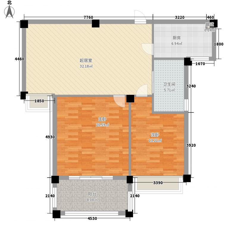 景城名郡121.00㎡二期小高层标准层D-5、D-6户型4室3厅2卫1厨