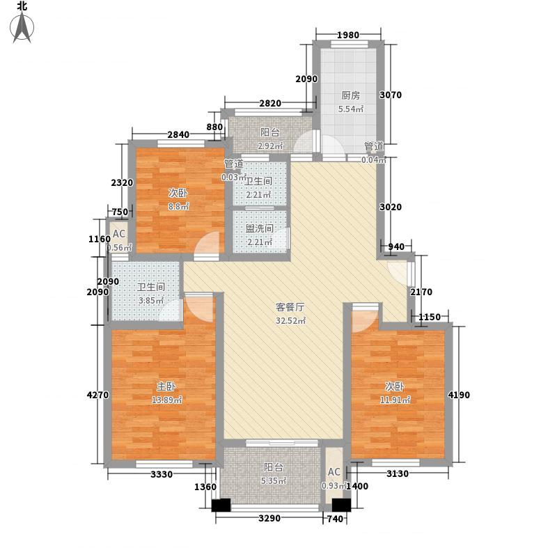 陆宇中央郡132.24㎡陆宇中央郡户型图E1户型3室2厅2卫1厨户型3室2厅2卫1厨