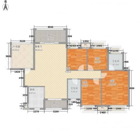 礼顿・金御海湾4室1厅2卫1厨166.00㎡户型图