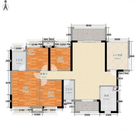 礼顿・金御海湾4室1厅2卫1厨164.00㎡户型图