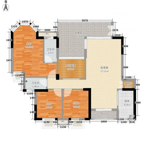 海景蓝湾3室0厅2卫1厨127.00㎡户型图