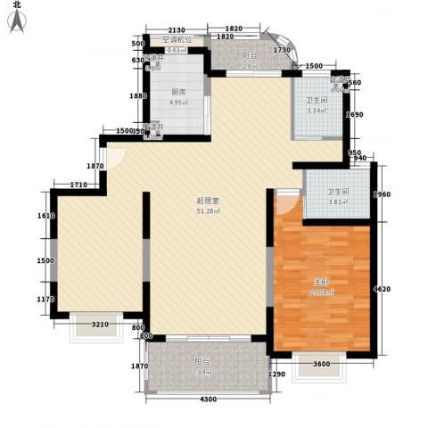 琨城帝景园1室0厅2卫1厨239.00㎡户型图