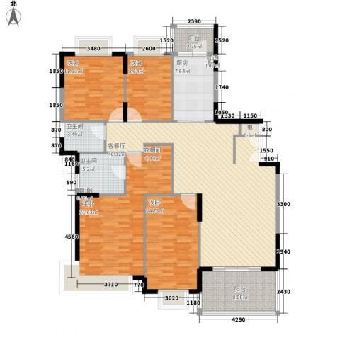 大信海岸家园4室1厅2卫1厨176.00㎡户型图
