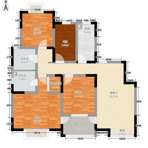 西郡188花园4室1厅2卫1厨149.00㎡户型图