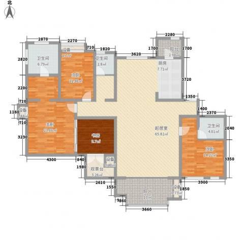 长瀛御龙湾4室0厅3卫0厨157.27㎡户型图