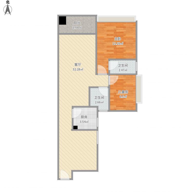 中山-阳光家园-原始结构图