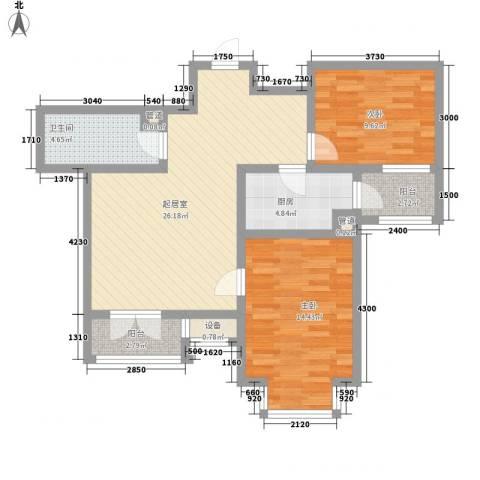 长瀛御龙湾2室0厅1卫1厨98.00㎡户型图