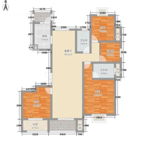 九龙华府4室1厅2卫1厨106.73㎡户型图