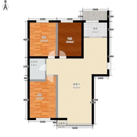 恒泰骏景3室1厅1卫1厨143.00㎡户型图