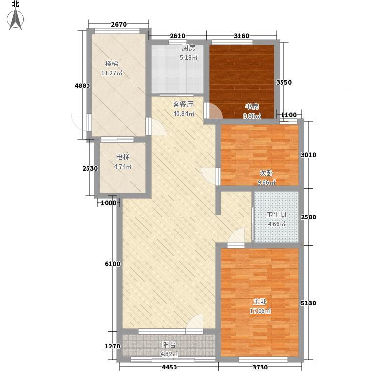 馨河湾V户型3室2厅1卫1厨