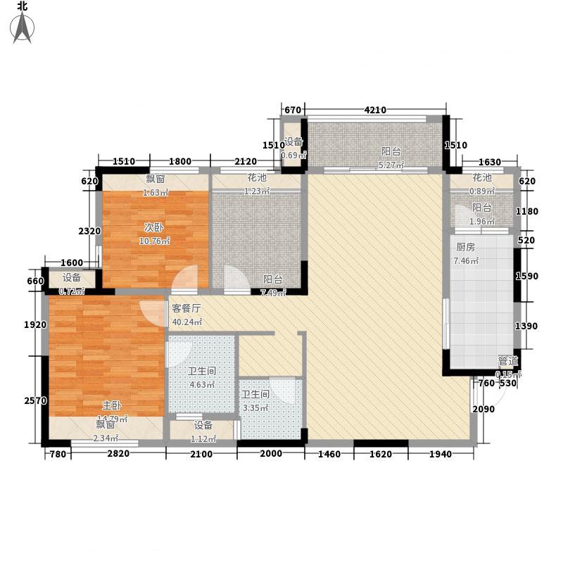 金水湾国际公馆104.96㎡金水湾国际公馆户型图4、5、6栋B户型2室2厅2卫户型2室2厅2卫