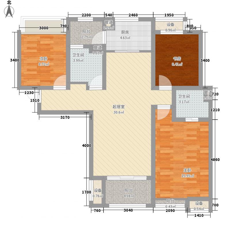 阳光城・丽兹公馆11.00㎡A2户型3室2厅2卫1厨