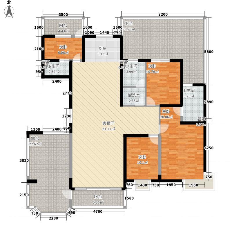 安宁庭院207.51㎡E户型5室2厅3卫1厨