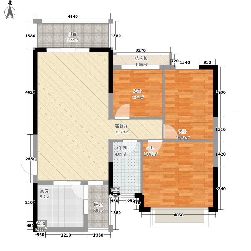 济南恒大绿洲116.63㎡济南恒大绿洲户型图12号楼2单元3室2厅1卫1厨户型3室2厅1卫1厨