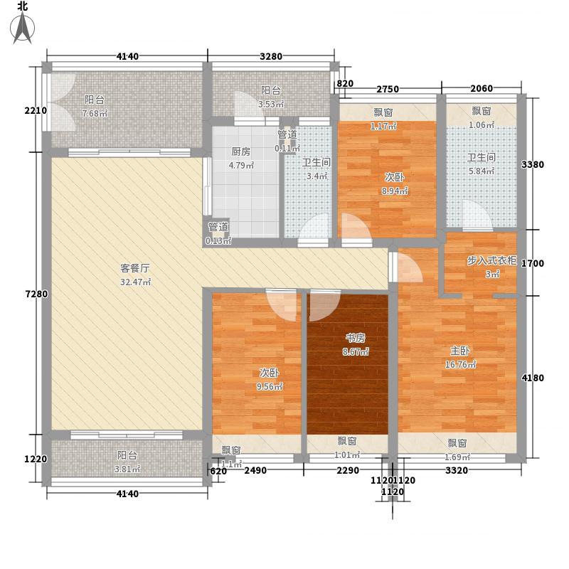 岸芷汀兰153.70㎡岸芷汀兰户型图2号楼B03户型(3-19层)4室2厅2卫1厨户型4室2厅2卫1厨