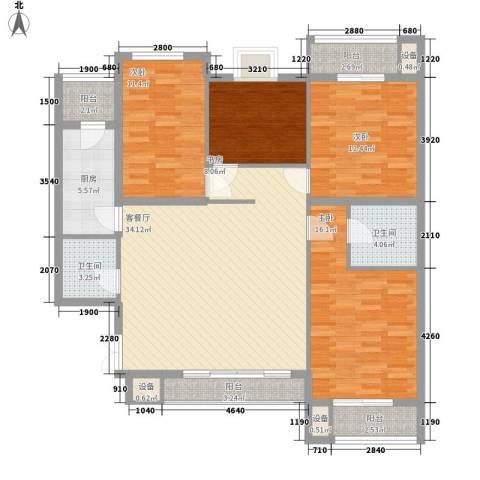 明智公寓4室1厅2卫1厨153.00㎡户型图