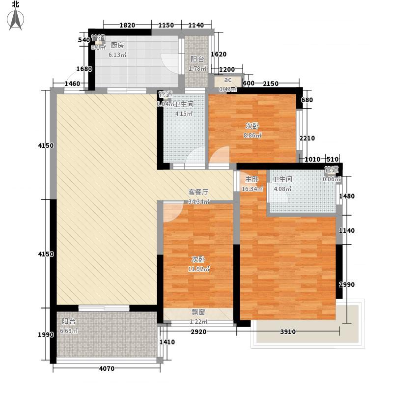 济南恒大绿洲137.19㎡济南恒大绿洲户型图12号楼1单元3室2厅2卫1厨户型3室2厅2卫1厨