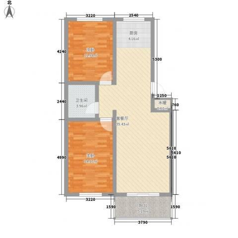 丽和阳光城2室1厅1卫0厨92.00㎡户型图