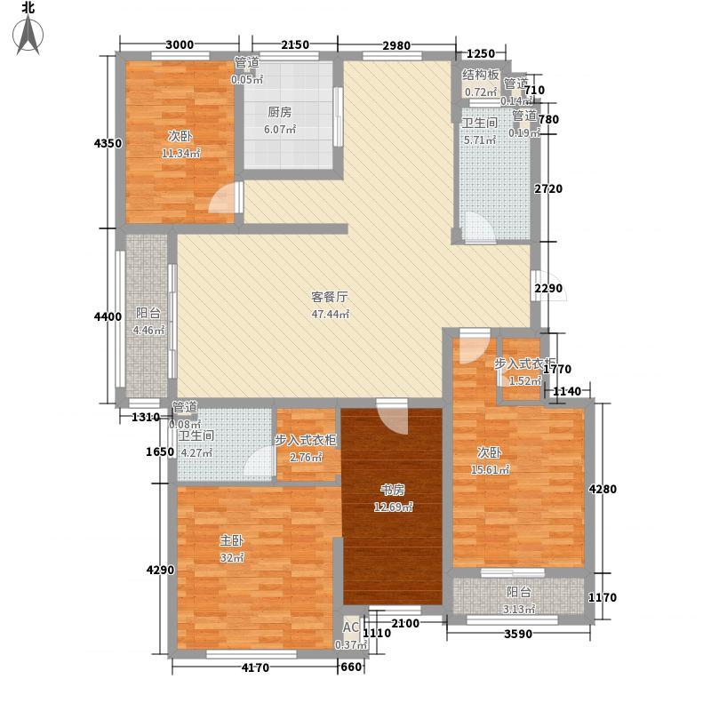 望海山海城户型5室2厅2卫1厨