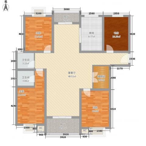 阳光四季园4室1厅2卫1厨179.00㎡户型图