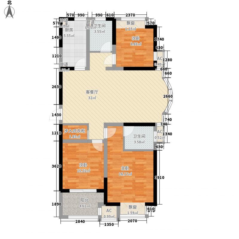 万泰国际广场檀香湾6、7、8#标准层E户型