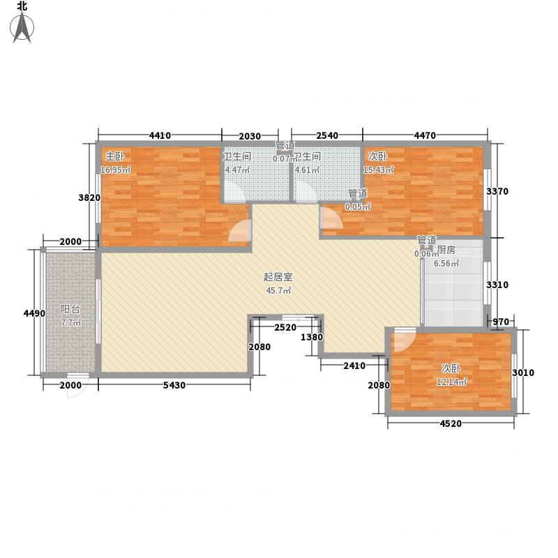 青城华府158.37㎡户型3室2厅2卫1厨