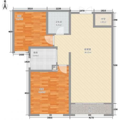天鹅湖小镇东区2室0厅1卫1厨79.34㎡户型图
