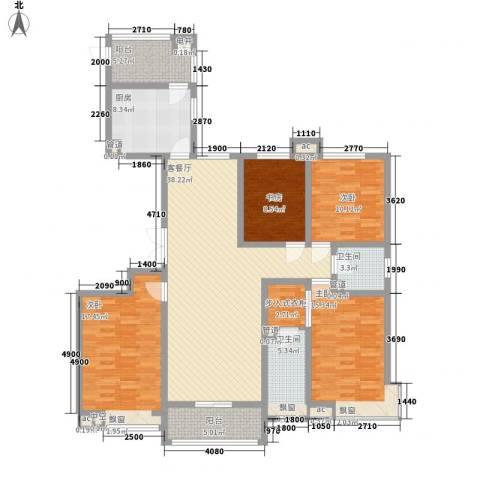 龙湖公馆4室1厅2卫1厨172.00㎡户型图
