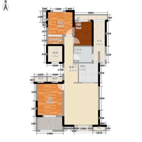 清水绿园3室1厅1卫1厨137.00㎡户型图