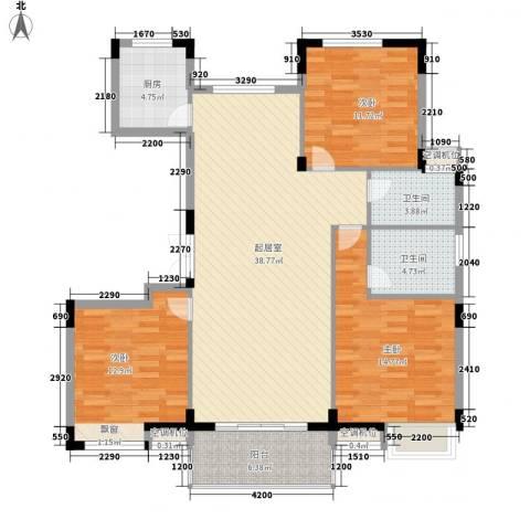 祥盛明湖湾3室0厅2卫1厨138.00㎡户型图