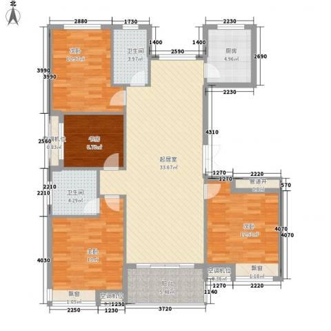 祥盛明湖湾4室0厅2卫1厨139.00㎡户型图