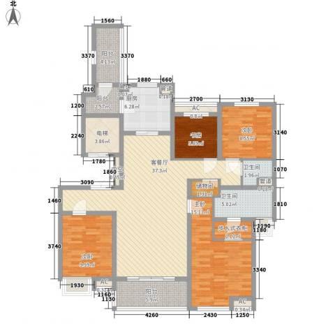 万科大明宫4室1厅2卫1厨166.00㎡户型图