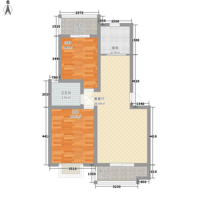 理想新城2期96.00㎡理想新城2期2室户型2室