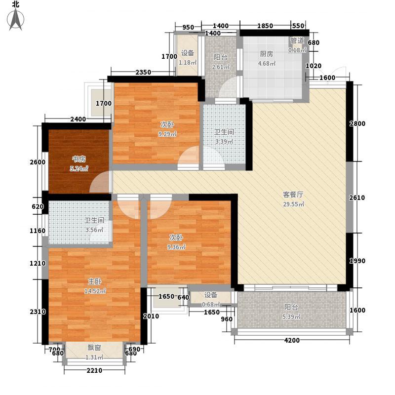 中央国际一期T61、2号房户型