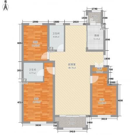 海富第五大道3室0厅2卫1厨103.12㎡户型图