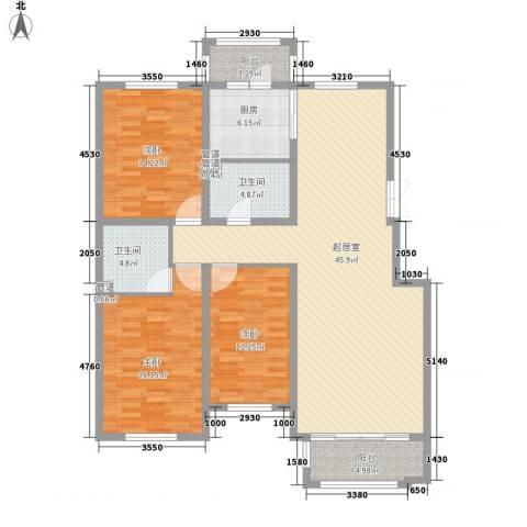 海富第五大道3室0厅2卫1厨112.74㎡户型图