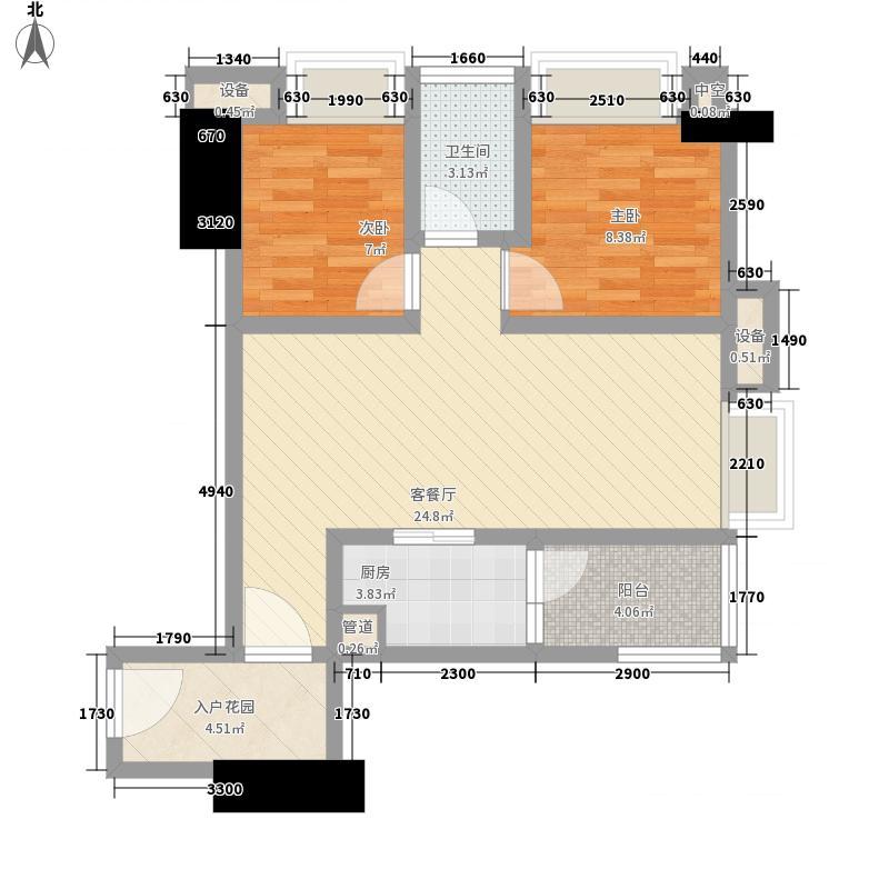 首创鸿恩中心四期高层1、2号楼标准层D户型