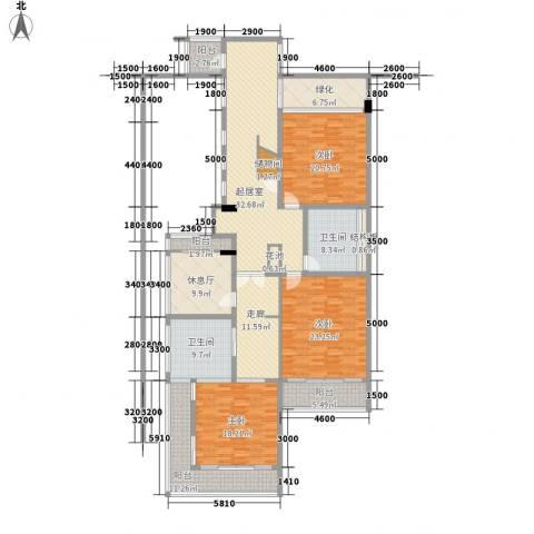 钻石海岸3室0厅2卫0厨239.00㎡户型图
