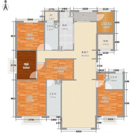 京投银泰・琨御府4室1厅3卫1厨146.67㎡户型图