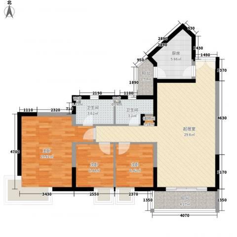 凤乐新村3室0厅2卫1厨112.00㎡户型图