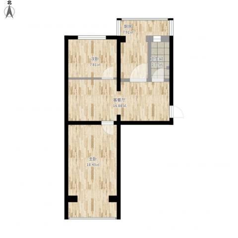 妇联小区2室1厅1卫1厨78.00㎡户型图