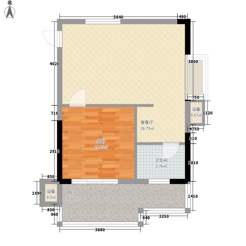 飞扬国际5.20㎡T4楼D户型1室1厅1卫1厨