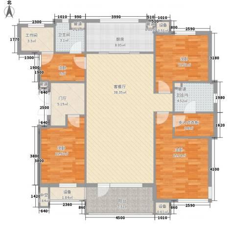 圣安综合楼4室1厅2卫1厨168.00㎡户型图