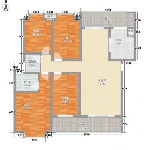 盛世家园4室1厅2卫1厨146.00㎡户型图