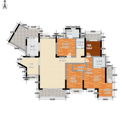 华润澜溪镇2室0厅3卫1厨226.00㎡户型图