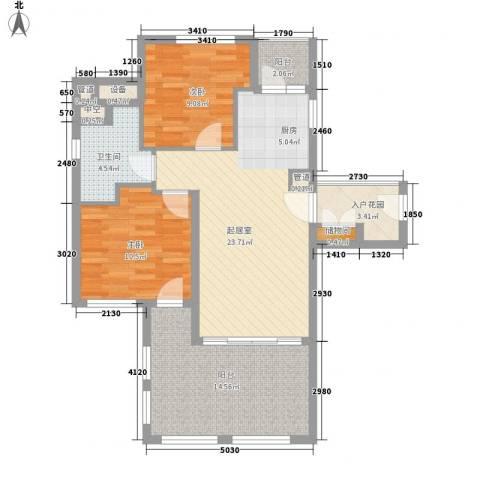 国信龙沐湾2室0厅1卫0厨90.00㎡户型图