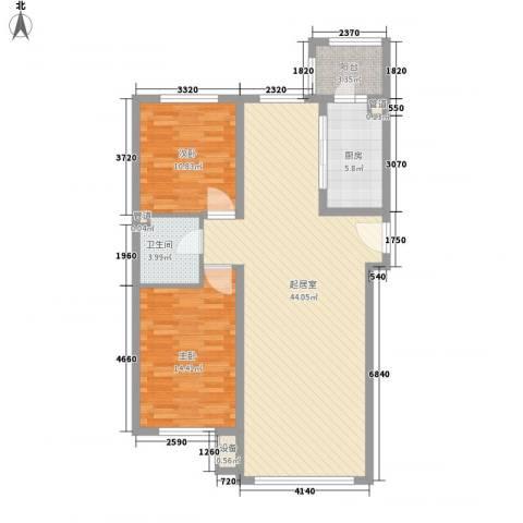海富第五大道2室0厅1卫1厨83.17㎡户型图