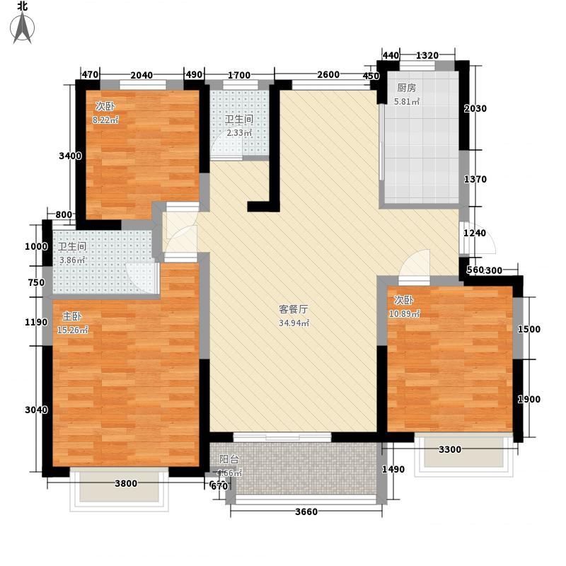 大坤・新新家园D户型3室2厅2卫1厨