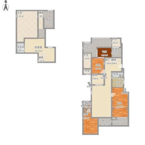 世茂君望墅4室1厅4卫1厨252.00㎡户型图