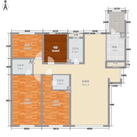 海富第五大道4室0厅3卫1厨144.35㎡户型图